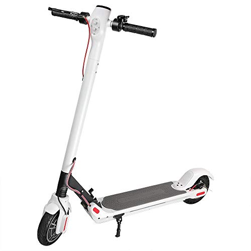 Kirin Elektroroller, ES2 Klappbar E-Scooter 25KM/H ElektroRoller 8,5 Zoll Reifen, LED-Display, App-Steuerung,350W (Weiß)