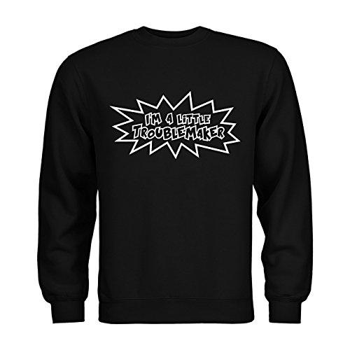 nder Sweatshirt I'm a little troublemaker 20drpt15-ks00989-4 Textil black / Motiv weiss Gr. 134/146 (Little Black Dress Kostüm)