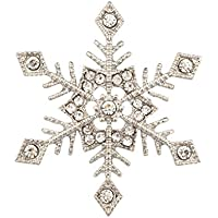 Lux accessori fiocco di neve Inverno Natale Cristallo Spilla,.