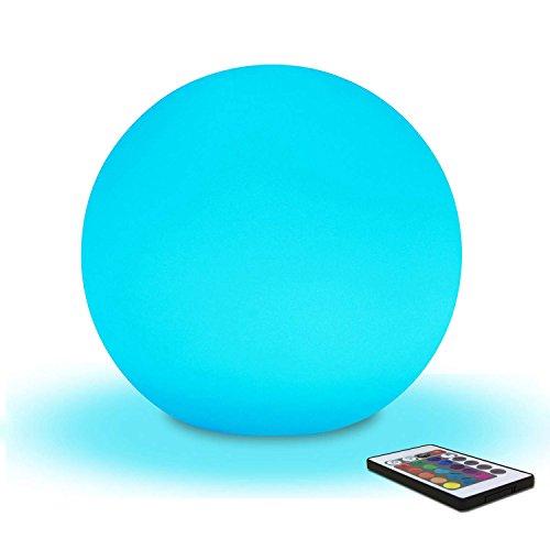 20cm Boule Lumineuse LED Lumière d'Ambiance avec Télécommande, Veilleuse LED Lampe de Chevet pour Enfants avec Couleur Changeante, 16 RGB Couleurs et Rechargeable Batterie