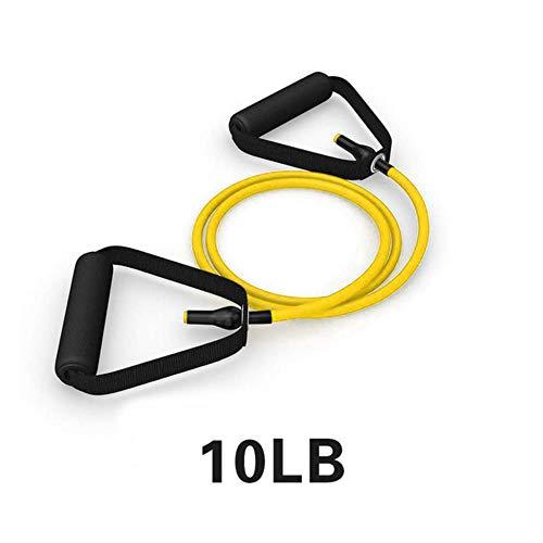 WOOAI 120cm Yoga Zugseil Gummibänder Fitnessseil Gummibänder für Fitnessgeräte Expander Exercise Tube Training, gelb