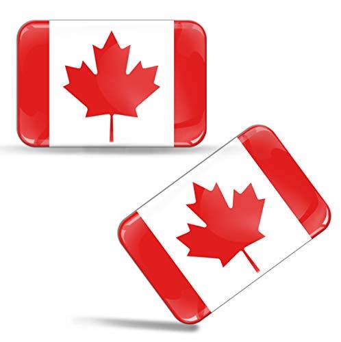 2 x Aufkleber 3D Gel Silikon Stickers Kanada Kanadische Flagge Canada Fahne Auto Motorrad Fahrrad Fenster Tür PC Handy Tablet Laptop F 40