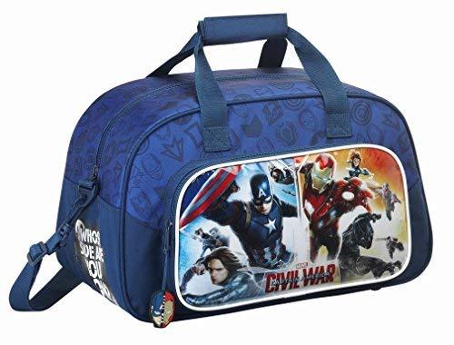 Captain America - Sporttasche; dunkelblau; 40 cm x 24 cm x 23 cm; Marvel Avengers (Sporttasche Marvel)