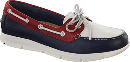 BIRKENSTOCK TENNESSEE SCARPE DONNA lace-up pelle Blue/White/Red
