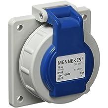 Mennekes 101700011 Bases Schuko 16 A / 230 V, Tomas de Corriente, IP 68 Grado de Protección, Azul