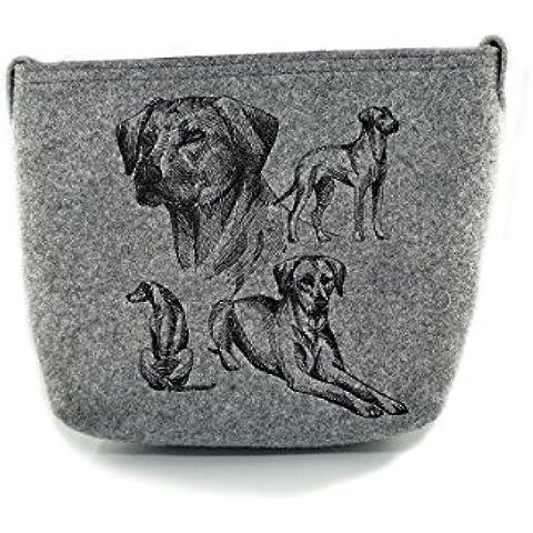 Rhodesian Ridgeback, Felt, bolsa gris, bolso de hombro con el perro, bolso, bolsa, de alta calidad, Pet Lover, monedero