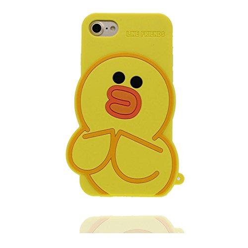 """iPhone 7 (4.7"""") Coque, [ TPU Material Flexible Popcorn ] Étui pour iPhone 7 (4.7""""), Dust Slip Scratch Resistant, Case souple durable flexible jaune"""