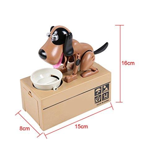 Sharplace 1 x Elektronische Sparschwein Hund Förmig Aufbewahrungsbox Geschenk für Kinder Münzen Sparer -