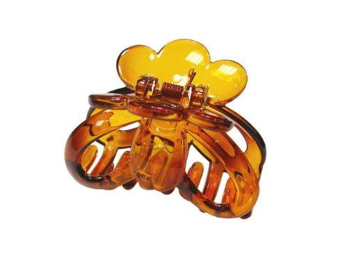 rougecaramel - Accessoires cheveux - Pince crabe simple - marron