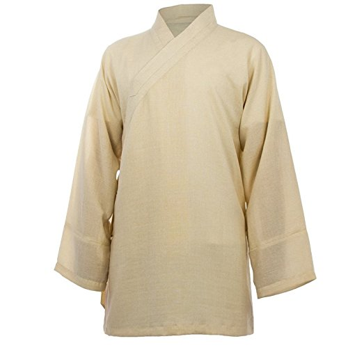 Baumwolle (Leicht) Tai Chi Oberteil diagonaler Kragen - Taiji Shirt - Tai Chi Anzug - Kung Fu - Wushu - Schwarz - 190