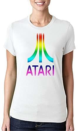 Atari Gaming Retro Funny - DTG Print Ladies T-Shirt