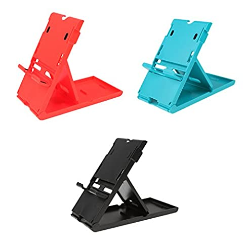Gazechimp 3pcs/Mixte Couleur Support Réglable Portable Support de Jeu Léger pour Nintendo Switch Smartphone Tablette