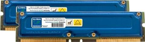 1GB (2 x 512MB) RAMBUS PC800 184-PIN ECC RDRAM RIMM MEMORY RAM KIT FOR WORKSTATIONS/MOTHERBOARDS