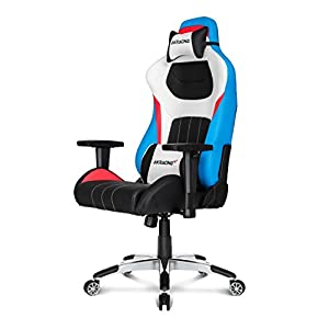 AKRacing Premium – AK-K0909-1 – Silla Gaming, Color Negro Blanco/Azul/Rojo