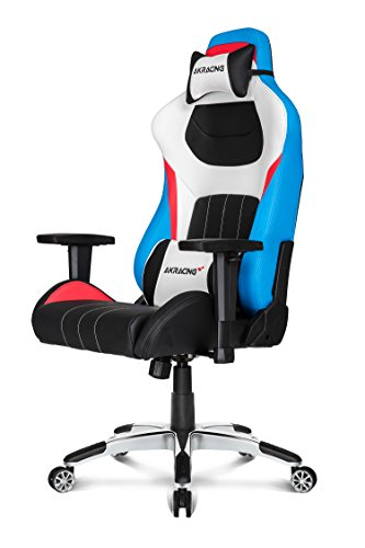 AKRACING AK-K0909-1 sedia (seduta in mesh, schienale imbottito, nero, rosso, blu, bianco, metallo, 0-12 °)