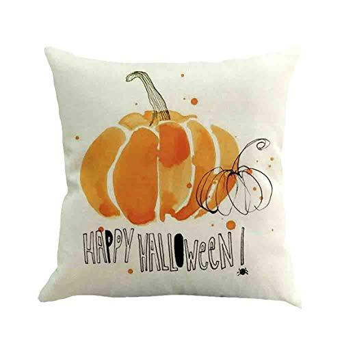 Moonuy 45 cm x 45 cm Kissenbezug Halloween Dekorative Kissen Fall Festival Sofa Taille Wurf Kissenbezug Removable Cusion Home Decor