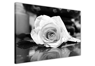 Floral Canvas Wall Art Prints Pictures Black And White Rose Romantic Photo Printing Room Decoration Photos Home DÉcor