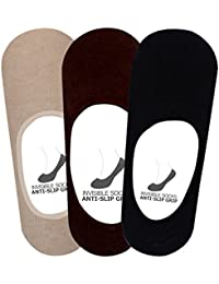 Supersox Men's Loafer Socks Anti Slip No Show Pack of 3