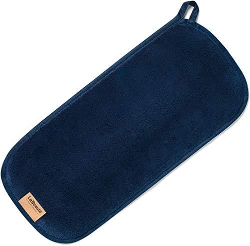 Edle Werfen (LaBeauté Make-Up Entferner Tuch groß, Abschminktuch und zur Gesichtsreinigung, waschbar und wiederverwendbar (40x18 cm, Navy-Dunkelblau))