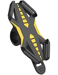 Fahrrad Handyhalter, GVDV Rostfrei und bruchfest universal Silikon Fahrrad Handyhalterung Motorradhalter Fahrradlenker, Handy Halterung für Telefon, GPS oder Geräte mit einem 4-6 Zoll Bildschirm, Für Straßenfahrräder als auch Mountainbikes, In Sekunden am Lenker zu befestigen und abzunehmen