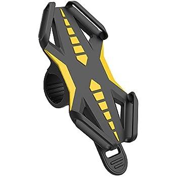 Fahrrad Handyhalter, GVDV universal Silikon Bike Fahrrad Handyhalterung Motorradhalter Fahrradlenker, Handy-Halterung für iPhone/Samsung/Blackberry/HTC/GPS