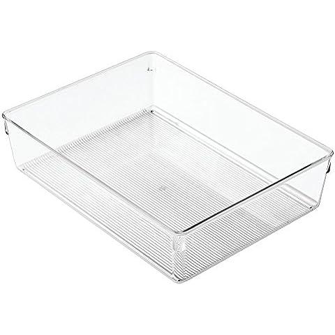 InterDesign Linus Dresser - Organizador, 23 x 30 x 8 cm, color transparente