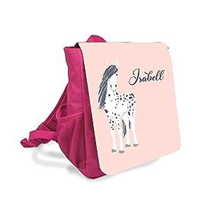 Kinderrucksack für Mädchen mit Namen u. Pferd