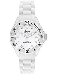 s.Oliver Unisex-Armbanduhr Small Size Silikon weiß SO-2296-PQ