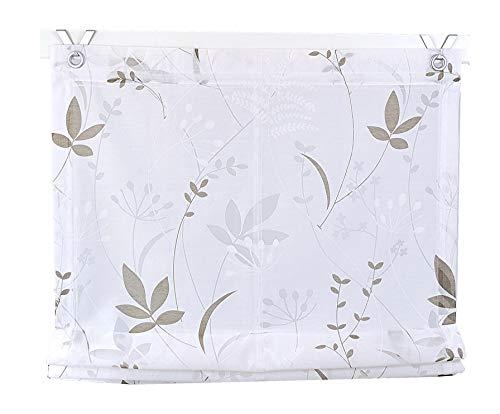 Tenda a pacchetto dandelion bianco con occhielli 60 * 140 cm