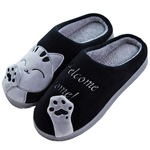 Rojeam Cute Christmas Slipper Warm Slippers Soft Plush Novelty Slippers Slippers