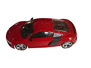 Brunte R0055 City Remote Car with Rechargeable Battery, Red