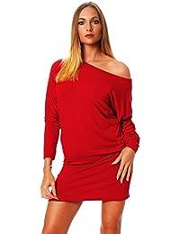 377692bffb41 Mississhop Damen Kleid Minikleid Langarmshirt Longshirt Pulli Tunika 36 38  40 42 44