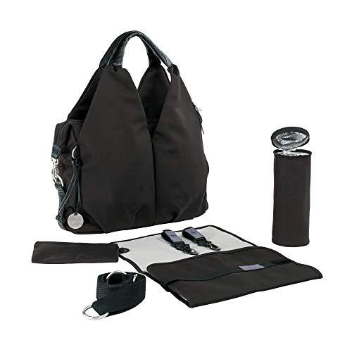 Lässig Green Label Neckline Bag Wickeltasche/Babytasche inkl. Wickelzubehör aus recyceltem Material, black