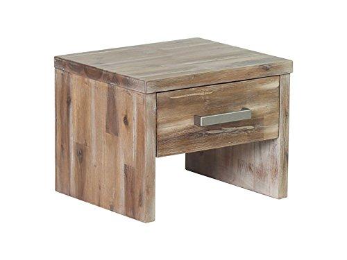 Woodkings® Nachttisch Albury Akazie rustic Schlafzimmer Massivholz Beistelltisch Nachtkommode Design massive Naturmöbel Echtholzmöbel günstig