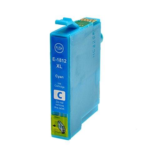 Tintenpatrone für Epson T1812XL Cyan - Cyan, 18 ml, kompatibel zu C13T18124010. Expression Home XP30, XP102, XP202, XP205, XP302, XP305, XP402, XP405.