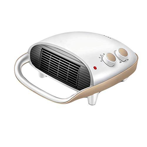 HQCC Mini-appareil de chauffage à thermostat céramique 2000W - 2 réglages de chaleur, appareil de chauffage mural à domicile pour salle de bain (blanc) (Couleur : Blanc)