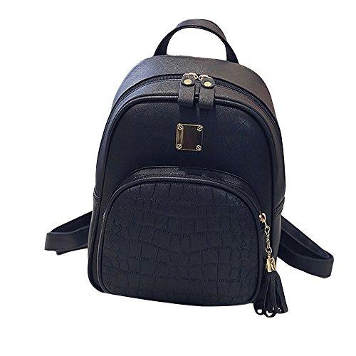 UI Mini Solid Backpack Kinder-Rucksack Wasserdicht Reiserucksack Outdoor Wanderrucksacke jugendliche mädchen Dakine Rucksack (Schwarz) (Notebook-rucksack North Face Rosa)
