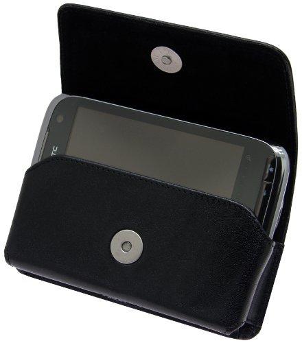 Original MTT Quertasche fuer - HTC Touch Pro 2 / T-Mobile MDA Vario V / 5   - Horizontal Tasche Ledertasche Handytasche Horizontal Huelle mit Clip und Sicherheitsschlaufe HTC Touch Pro2