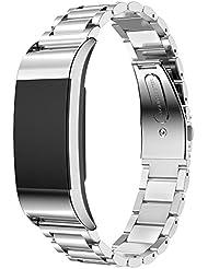 elobeth para Fitbit Charge 2pulsera, con n-incomparable Imán de Cierre, Milanaise Strap pulsera Replacement Wrist banda de sujeción para de repuesto para Fitbit Charge 2Fitness Tracker no requiere hebilla