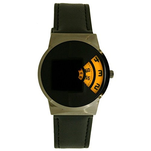 softech-mens-designer-gun-yellow-black-pu-leather-strap-jump-hour-disc-time-display-watch-analog-qua
