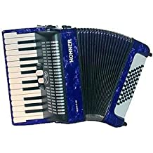 Hohner Bravo II 48azul acordeones Piano Tipo