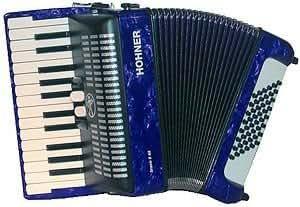 HOHNER BRAVO II 48 BLEU Accordéon Accordéon chromatique Clavier piano