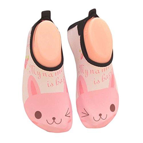 Kinder Strand Schuhe Sportschuhe Wasser Schuhe Soft Schuhe Indoor Schuhe Socken Schuhe Rosa