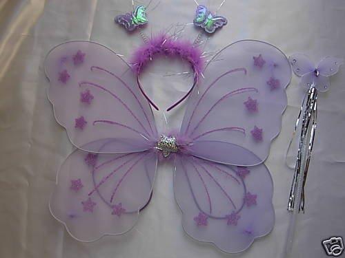 Violette Fee Kostüm - Paar Butterfly Fee Flügel Kostüm-Set Violett violett