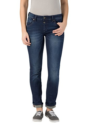 Super Low Straight Jean (Timezone Damen Slim Tahila Super Stretch Straight Jeans, Blau (Dark Royal Wash 3012), W26/L34)