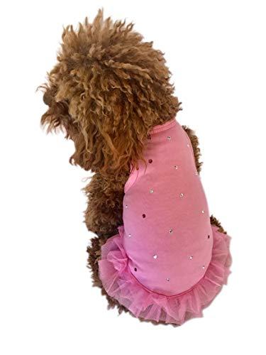 Der Hund Squad 642141140476Sommer Sparkle Hund Tutu Kleid, Medium, Fuchsia Sparkle Tutu