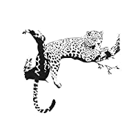 SODIAL(R) Large Leopard Animal Art Removable Room Home Wall Sticker Decal Mural Decoration,black,Size: 90 x 60cm (finished size): 86 × 72cm