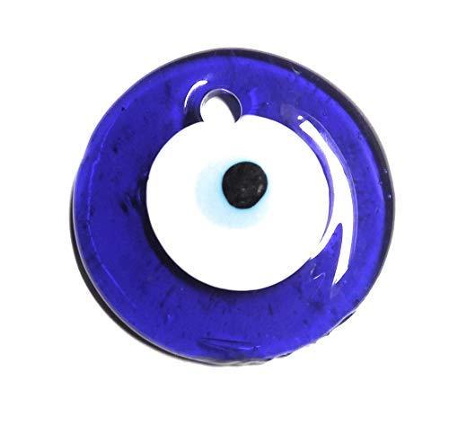 ojo turco 5 cm de diametro contra el de ojo y proteccion, cristal con agujero
