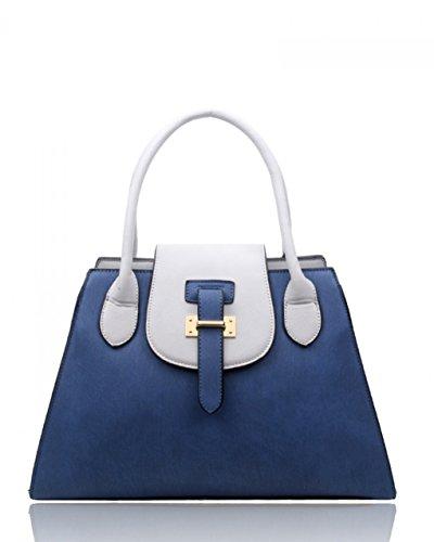 LeahWard® Große Größe Damen Mode Tragetaschen nett Schultertaschen Handtaschen Zum DamenHandtasche A4 CW160112 Oxford blau (38x16x26cm)