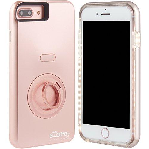 Case-Mate Allure Selfie LED Licht Hülle für iPhone 7Plus/6S Plus/6Plus-Rose Gold -